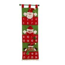 Уникальный рождественский календарь обратного отсчета украшения для дома, вечеринки и магазина настенный бархатный календарь Санта Клауса лучший подарок