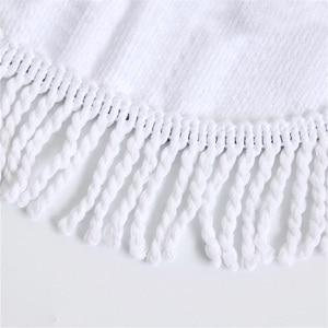 Image 5 - Пляжное полотенце с кисточкой, Цветочный Фламинго, подарок, банное полотенце для душа для взрослых, 500 г, микрофибра, 150 см, коврик для пикника и йоги, одеяло, ковер