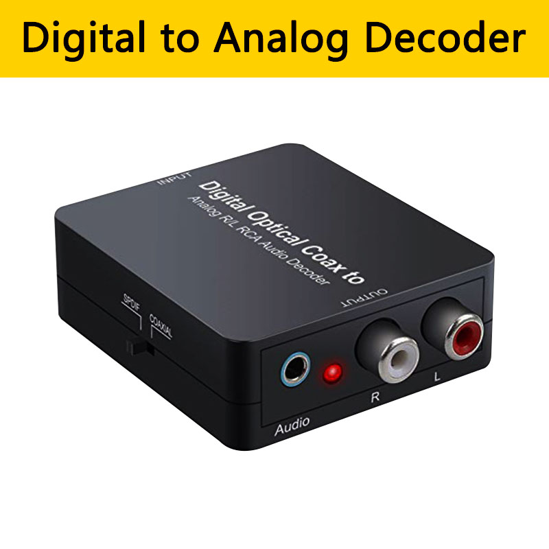 Digital To Analog Audio Decoder Optical Toslink Coxaial In 3.5mm Jack L/R RCA Out Converter Support Dolby DTS Stere For TV PS4