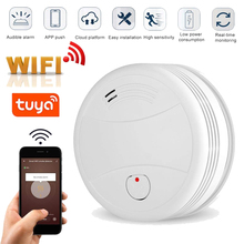 Tuya WiFi Smoke Alarm Fire Protection Smoke Detector Smoke house Combination Fire Alarm Home Security System Fire