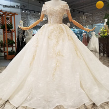 LS248778 organza appliques wedding dress 2018 off the shoulder sweetheart flowers wedding gown buy direct from china factory(China)