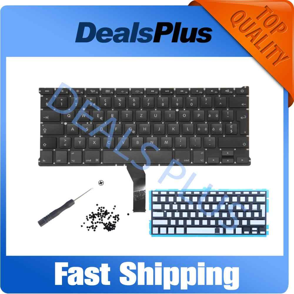 "2011-2015 A1466 Keyboard Backlight GR SP PT Bahasa Portuges NO Bahasa Swedia HU Bahasa Hungaria CH Swiss untuk Mac Book Air 13 ""A1369 A1466"