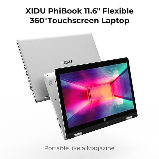 2019 XIDU タブレット 11.6 インチのラップトップノートブックと 4 ギガバイトの RAM 64 ギガバイト ROM インテル Z8350 クアッドコアコンピュータの Ultrabook
