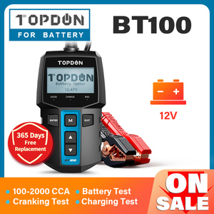 Image 1 - TOPDON BT100 Car Battery Tester 12V 100 2000 CCA  Auto Batteri Analyzer Test Load Capacity Testing for Car Truck Motorcycle