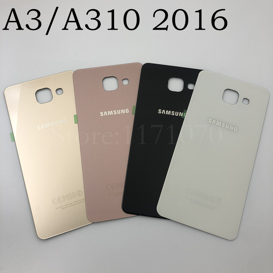 For Samsung Galaxy A3 A310 A310F A5 A510 A510F A7 A710 Back Cover Battery Case 3D Glass Rear Housing Cover For Samsung A3 2016