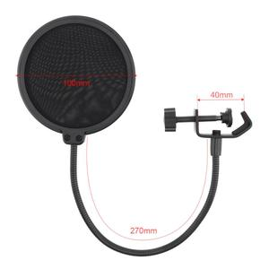Image 3 - Multifunction Shockproof Microphone Holder Bracket with Double Layer Microphone Pop Filter and Table Clip for Live Broadcast
