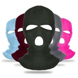 NEW Army Tactical Mask 3 Hole Full Face Mask Ski Mask Winter Cap Balaclava Hood Motorbike Motorcycle Helmet Full Face Helmet