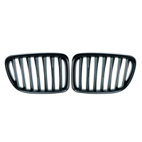 2 Pcs Upgrade Euro Sport Gloss Black Front Slat Roosters Suv Vriendelijk Grill Voor Bmw E84 X1 2010 - 2015 auto Styling