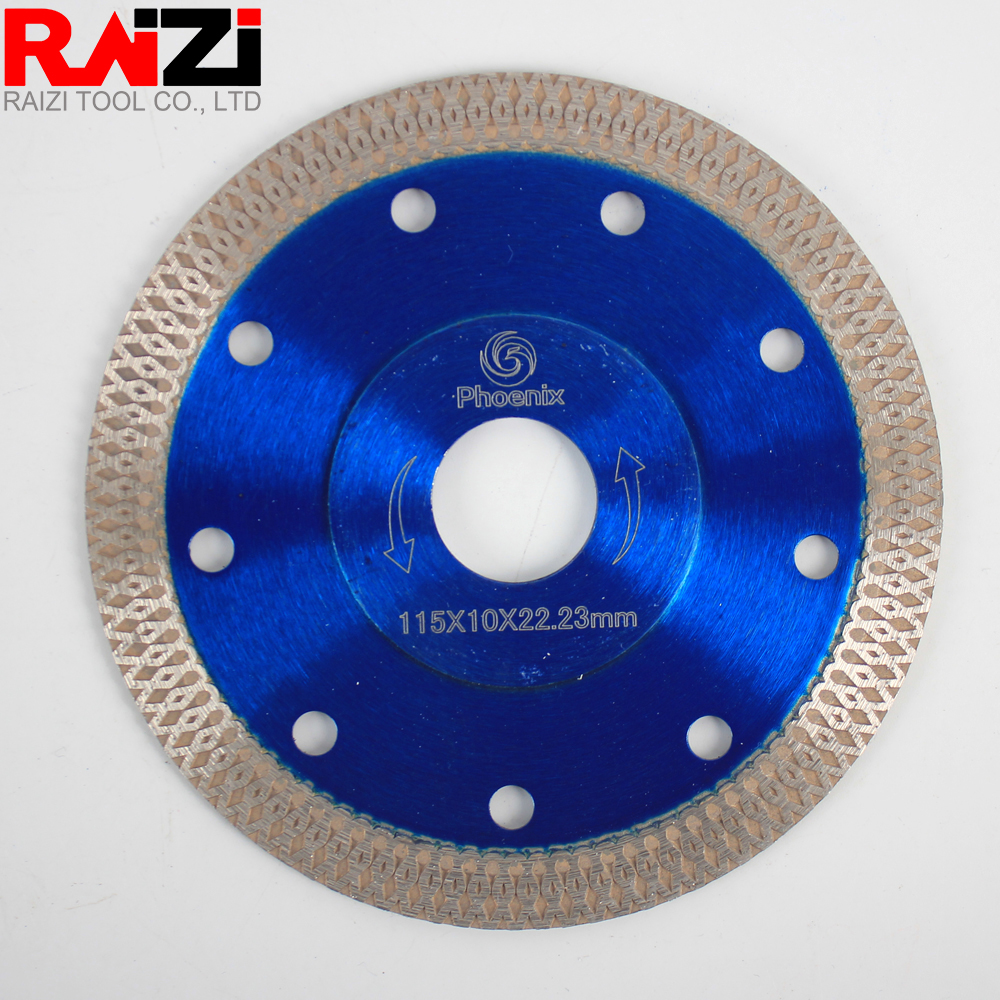 Raizi Phoenix 115/125/180/230mm Mesh Thin Turbo Diamond Cutting Saw Blade For Porcelain Tile Cutting Disc
