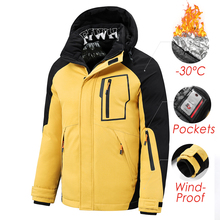 Jacket Coat Outwear Parkas Hooded Warm Thick Men Winter Casual Windproof New Detachable