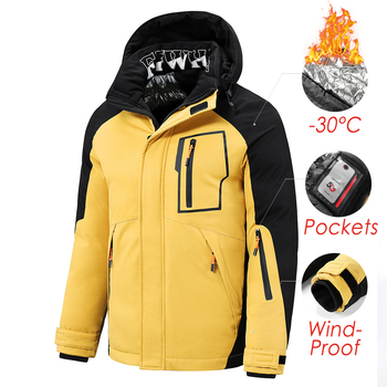 5XL Men 2021 Winter New Outwear Thick Warm Parkas Jacket Coat Men Casual Windproof Pockets Detachable Hooded Parkas Jacket Men