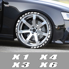 3D Rubber Letters Car Tyre Stickers  For BMW X5 E53 E70 F15 G05 X1 F48 X3 F25 X6 E71 X2 F39 X4 F26 X7 G07 Sport Car Accessories