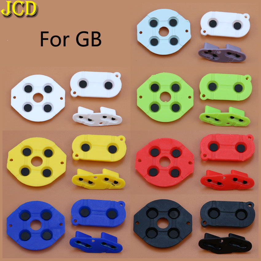 JCD 1Set Colorful Rubber Conductive Buttons A-B D-pad For Nintend GameBoy GB Silicone Conductive Start Select Keypad