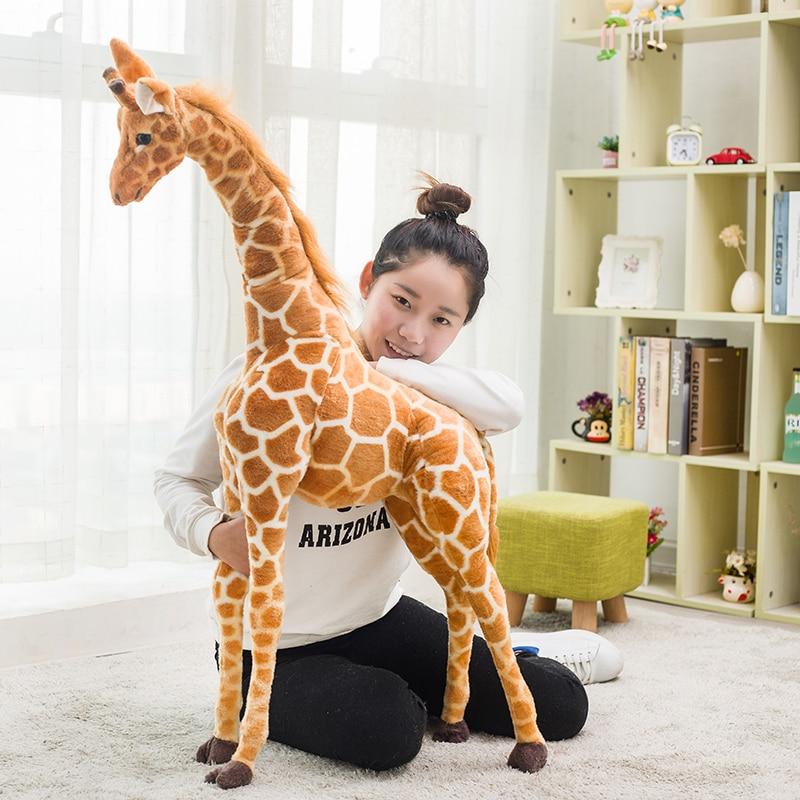 120 Cm Simulation Plush Giraffe Toys Big Size Cute Stuffed Animal Dolls Soft Giraffe Doll High Quality Birthday Gift Kids Toy