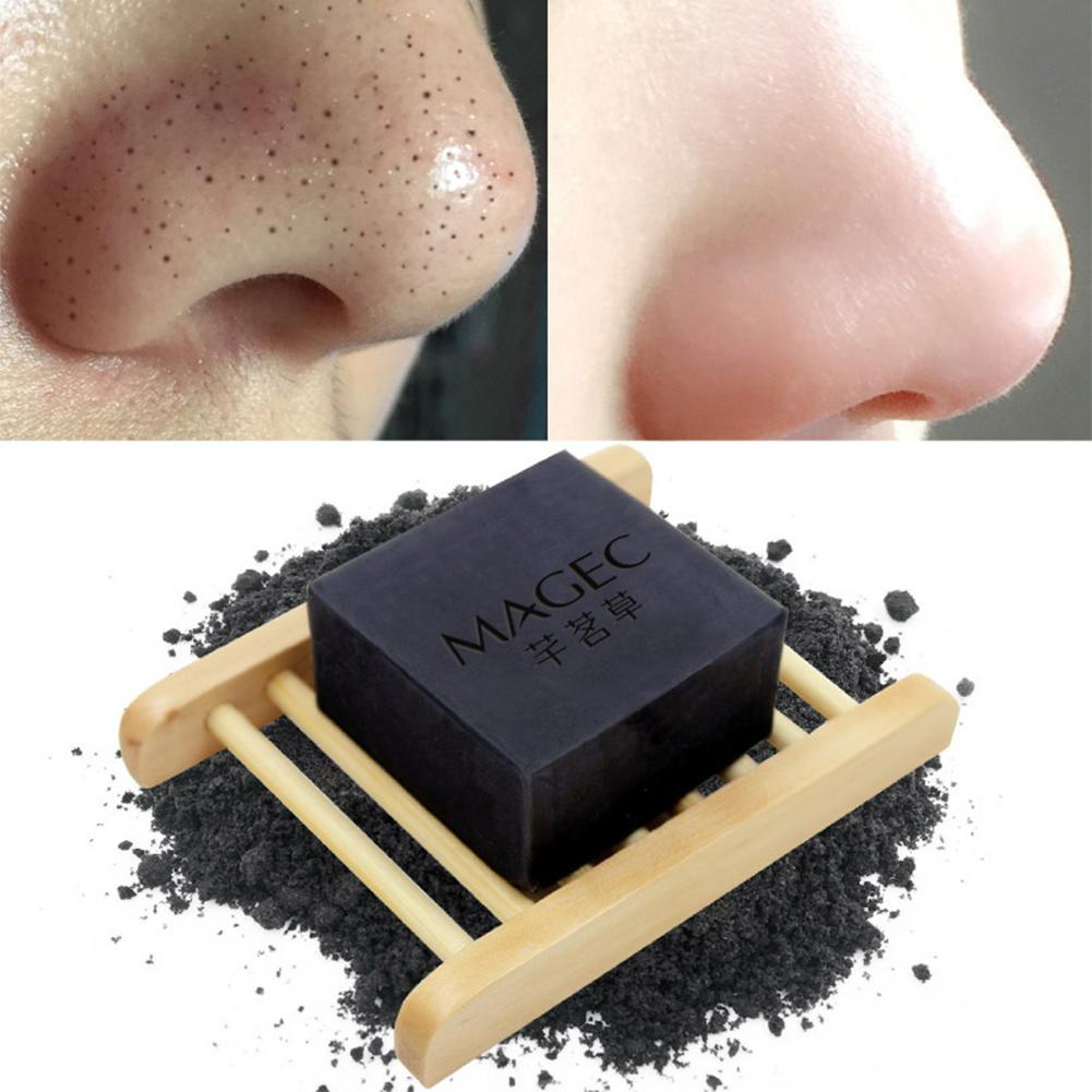 Bamboo Charcoal Handmade Soap Oil Control Blackhead Removing Face Cleansing Soap Natural Essential Oil Soap For Unisex Tools