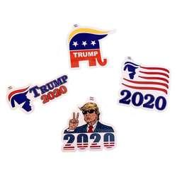 Новый 4 шт./пакет 2020 выборов в США козырная наклейка козырь на ваш выбор болельщиков Тетрадь Стикеры