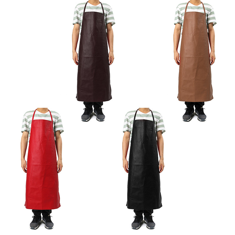 PU Leather Welding Apron Equipment Welder Protection Heat Insulation Apron Kitchen Work Wear