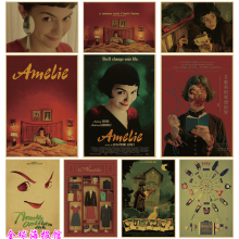 Clásico película póster de Amelie retro Kraft papel de pared pinturas decorativas de pared vintage póster pegatinas de pared