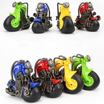 Regalo de cumpleaños para niños Mini inercia motocicleta deslizante fundición a presión modelo de coche de Motocross decoración de juguetes para niños