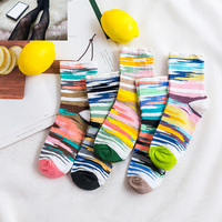 120 Pairs Personality Free Size Fits for Europe Size 34 44 Men Women Socks Q1001