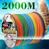 hollowcore braided fishing line 2000M resistant for sea Ocean Boat Fishing ice thread spliced 20LBS 500LBS tackle rope saltwater