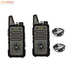 Atualizado KD-C1 RT22 KD-C1Plus Mini UHF Rádio FRS Walkie Talkie Profissional VOX Rádio em Dois Sentidos com Fone De Ouvido Do Ar (2 PCS)