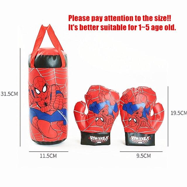 Disney 2020 Marvel Spiderman rękawiczki z zabawkami dla dzieci kombinezon z piaskiem prezenty urodzinowe boks zabawki sportowe na świeżym powietrzu dla interakcji rodzic-dziecko