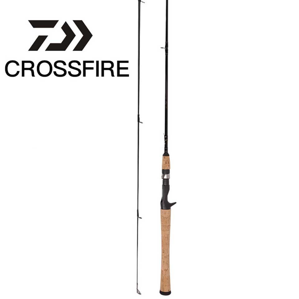 DAIWA Fishing Rod CROSSFIRE Spinning/Casting Fishing Rod Fast Action M MH Power 1.83M 1.98M 2.13M Aluminum Carbon Fishing Stick