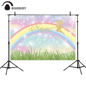 Image 1 - Allenjoy Photophone Achtergronden Verjaardag Rainbow Bokeh Kleurrijke Meisje Sprookje Fotografie Studio Achtergrond Photocall Photobooth