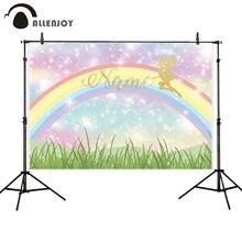 Allenjoy arrière plans photophone anniversaire arc en ciel bokeh coloré fille conte de fées photographie studio toile de fond photocall photobooth