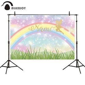 Image 1 - Allenjoy photophone backgrounds Birthday rainbow bokeh colorful girl fairy tale photography studio backdrop photocall photobooth