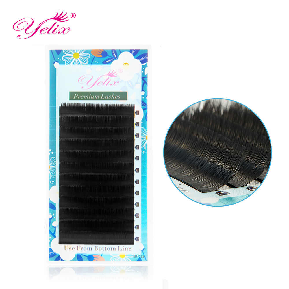 Yelix Matte 8-15Mm Gemengde Individuele Wimpers Faux Mink Lash Extension Trays Faux Cils Een Door Een Wimpers russische Volume Wimpers