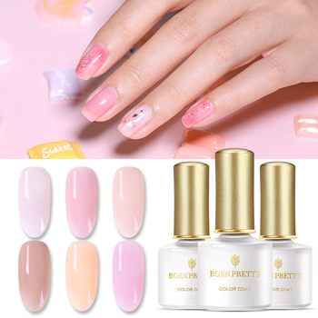 BORN PRETTY UV Gel Nail Polish 6ML Semi-transparent Opal Jelly Nail Gel Polish  Pink Varnish Soak Off UV Led Nail Art Laquer недорого
