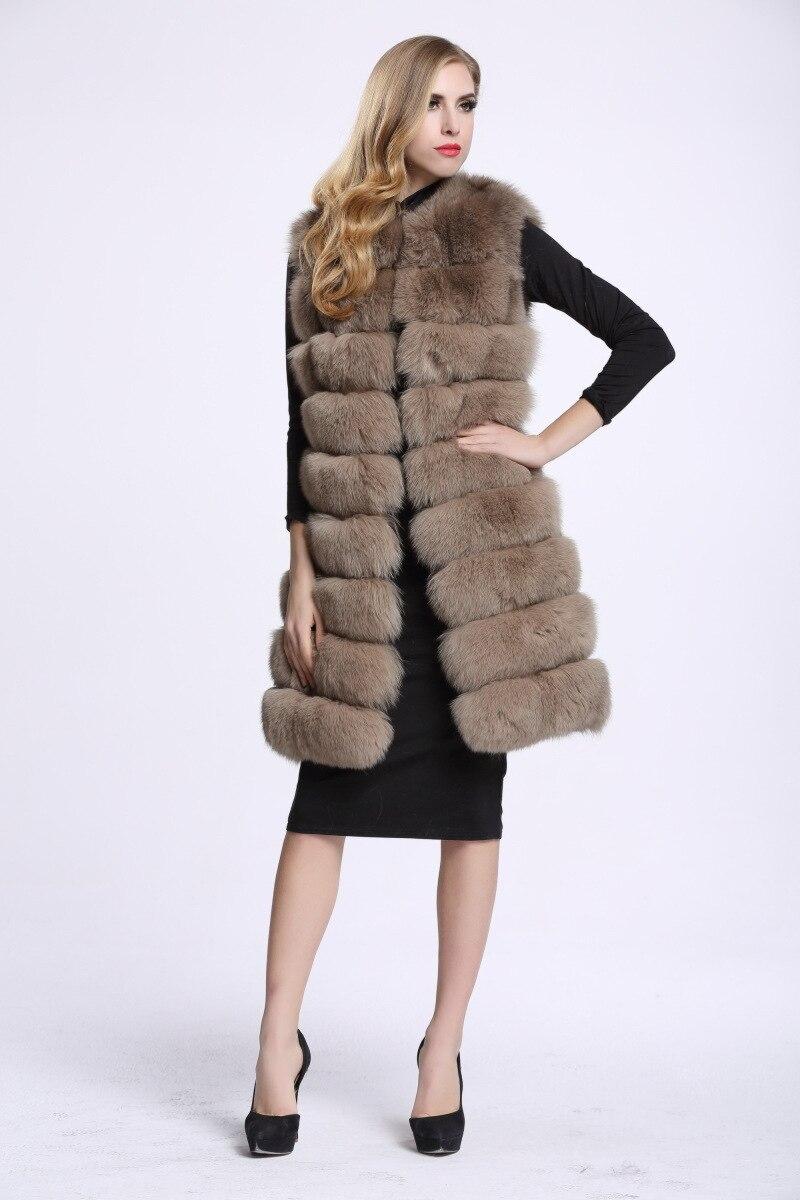 Image 4 - Medium And Long Fashion Fox Fur Vest Womens Winter Fur Coat Vest  Artificial Fur Fuake  Jackets Plus Size Overcoat S 3XLFaux Fur   -