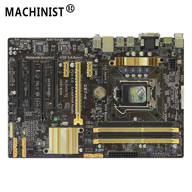 Original For ASUS Z87-K Desktop Motherboard MB Z87 LGA 1150 ATX DDR3 32GB SATA3.0 USB3.0 100% Fully Tested Free Shipping