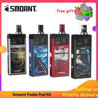Pod vape original Smoant Pasito Pod Kit 1100 mah batería incorporada y 3ml atomizador E cigarrillo vape Kit del orion ADN vaina Kit