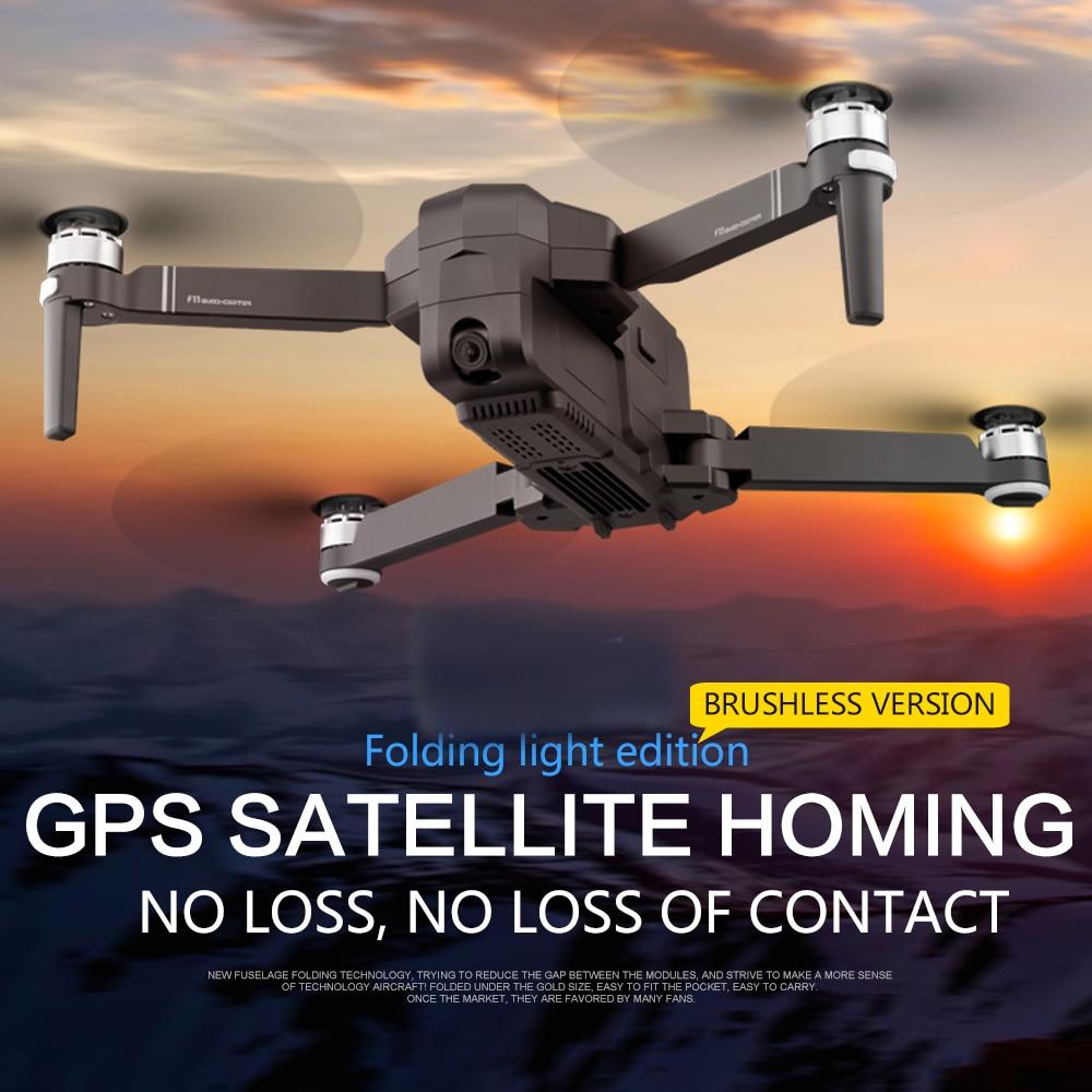 OTPRO mi Drone WIFI FPV con 4K 30fps 1080P cámara de 3 ejes cardán GPS RC Drone quadcopter RTF con la Trans mi tter Z5 F11 DRON-in Helicópteros RC from Juguetes y pasatiempos    2
