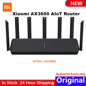 Xiaomi AX3600 AIoT Router Wifi 6 5G WPA3 Wifi6 600Mb Dual-Band 2976Mbs Gigabit Rate Qualcomm A53 External Signal Amplifier modem