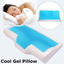 Memory Foam Gel Pillow Summer Ice-cool Anti-snore Slow Rebound Sleep Pillow Orthopedic Soft Health Care Neck Pillow Home Bedding(China)