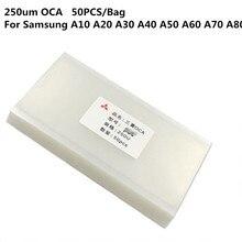100 のための 100PCS OCA サムスン A10 A20 A20e A30 A40 A50 A60 A70 A80 A90 光学的に透明な接着剤ステッカーガラスレンズフィルム液晶
