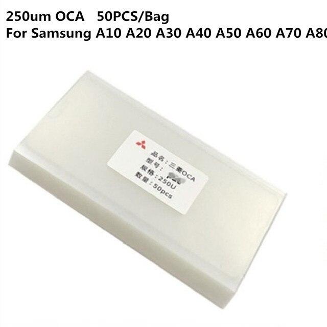100PCS OCA לסמסונג A10 A20 A20e A30 A40 A50 A60 A70 A80 A90 אופטי ברור דבק דבק מדבקה זכוכית עדשת סרט עבור LCD