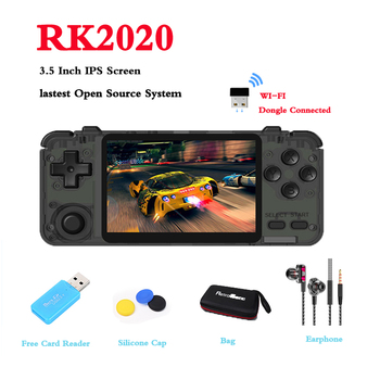 RK2020 Retro Handheld Game Console 3.5 Inch IPS Screen For DC/N64/PS1/PSX/CPS3 64Bit Open Source System Built-in 15000+ Games