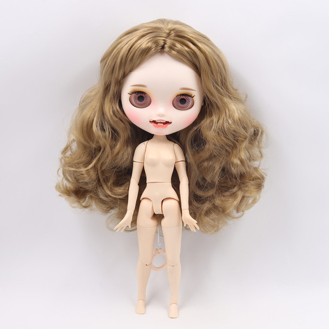Blyth doll 1/6 bjd white skin joint body matte face joint body customized face  with eyebrows 30cm ICY sd toy