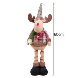 Christmas Decoratios For Home Dolls Xmas Tree Decor New Year Ornament Reindeer Snowman Santa Claus Standing Doll New Year Gift 6