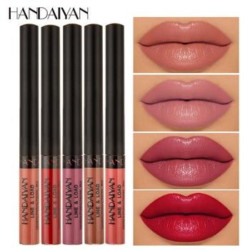 60pcs/lot HANDAIYAN Matte Liquid Lipstick Waterproof Long Lasting Lip Gloss Sexy Lip Tint Pigment Cosmetics maquiagem Wholesale