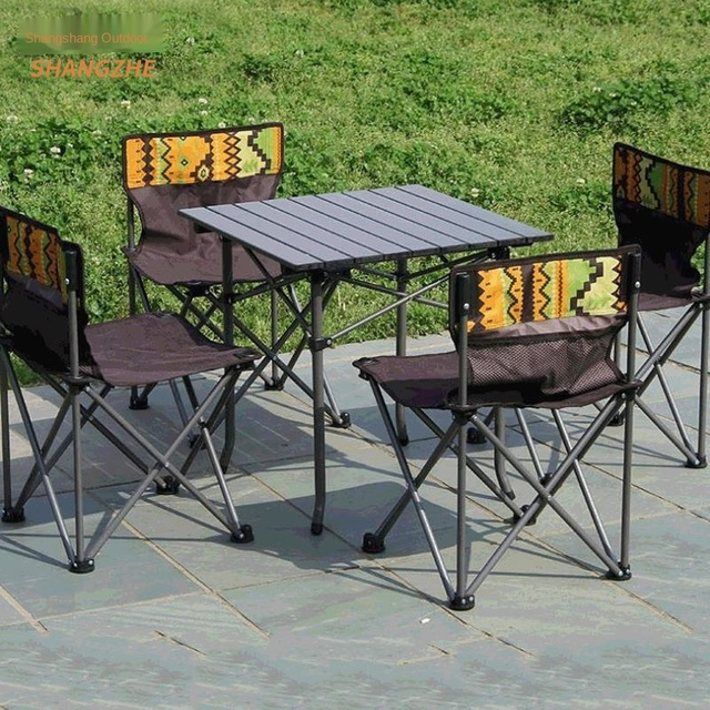 Outdoor Folding Camping Table Chair Set  4