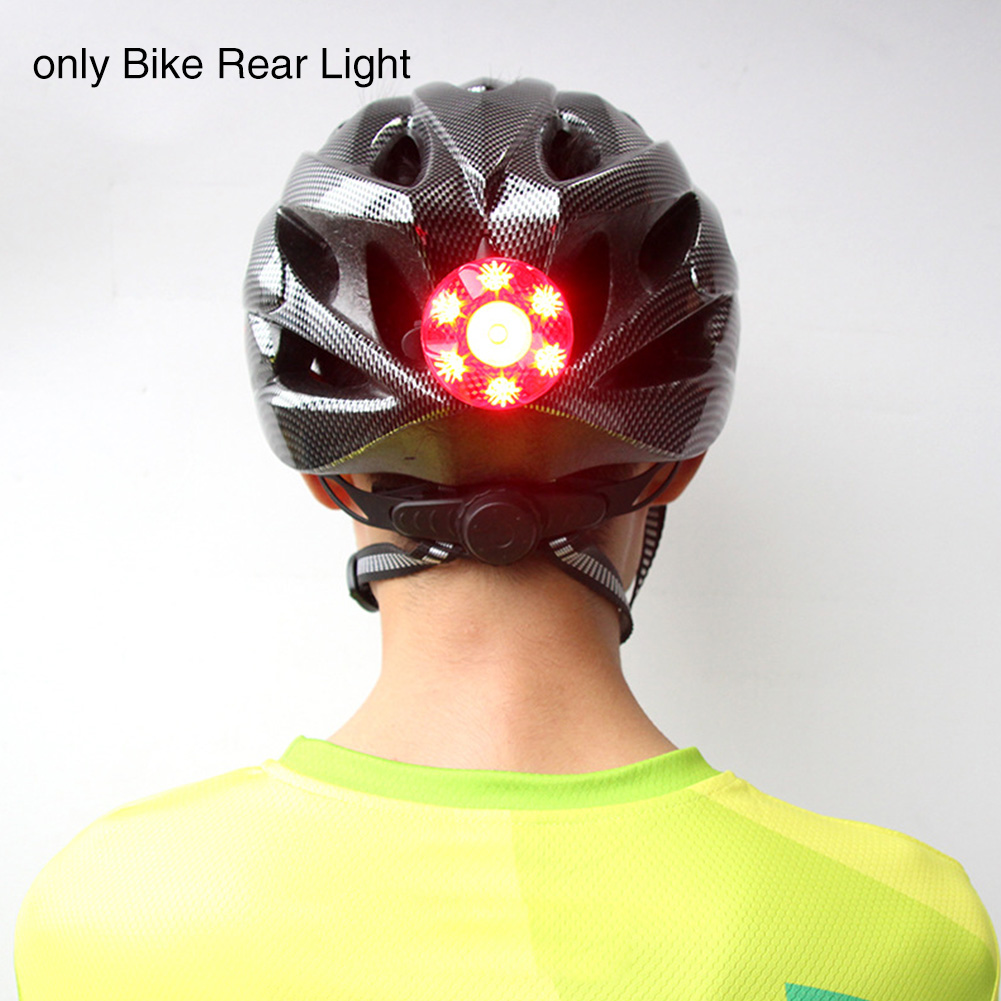 Cycling Accessories High Intensity Safety Smart Brake Night Riding USB Rechargeable Waterproof For Helmet Bike Rear Light Strobe