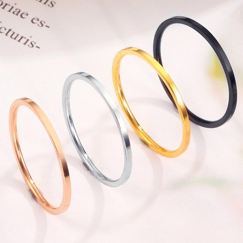 Высококачественные простые круглые мужские кольца, женские свадебные кольца розового золота, женские модные ювелирные изделия для влюблен...