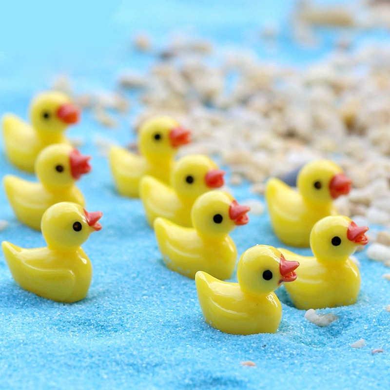 Yeni minyatür küçük sarı ördek 10 adet DIY kristal balçık malzemeleri aksesuarları telefon kılıfı dekorasyon için balçık dolgu çocuk oyuncakları E