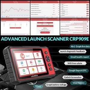 Image 3 - LAUNCH X431 CRP909E obd2 스캐너 전체 시스템 진단 도구 + 에어백 SAS TPMS EPB IMMO 15 리셋 기능 CRP909X 코드 리더
